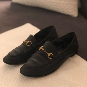 Gucci Brixton Leather Horsebit Loafers, size 39